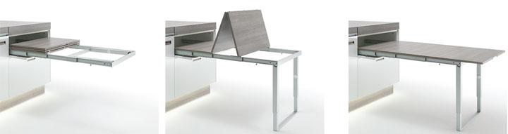 Sistema para mesa extra ble y plegable - Herrajes para mesas plegables ...